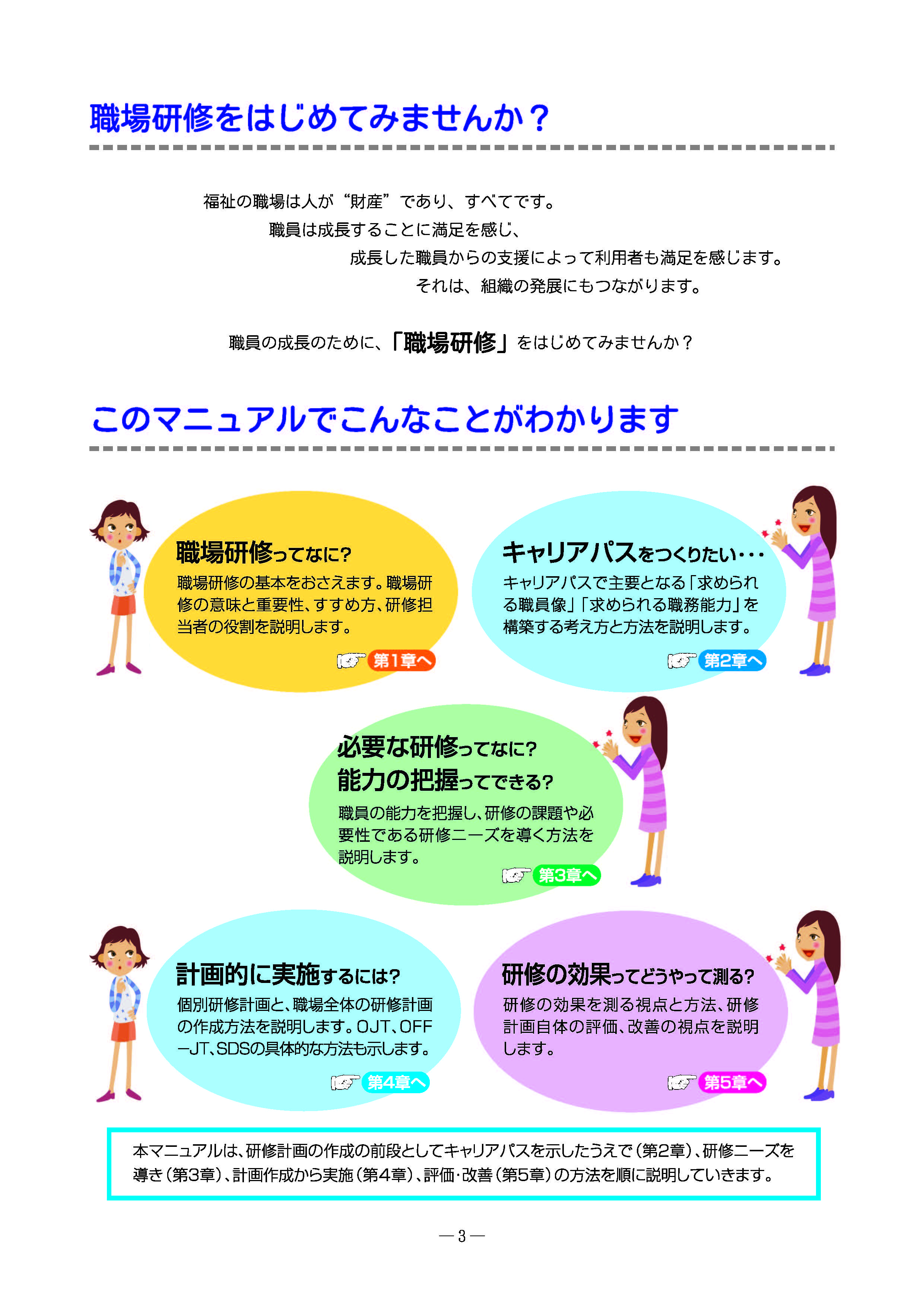 福祉の職場の研修計画・実践マニュアル(ページイメージ1)